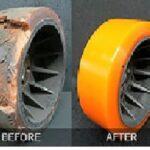 Восстанавливаем полиуретановое покрытие колес,роликов ричтраков,рокл