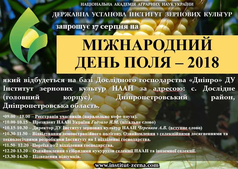 Міжнародний День поля 2018